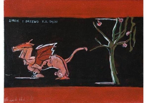 Obraz autorski - Smok i drzewo