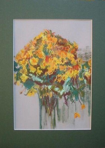Obrazy pastelowe - kwiaty